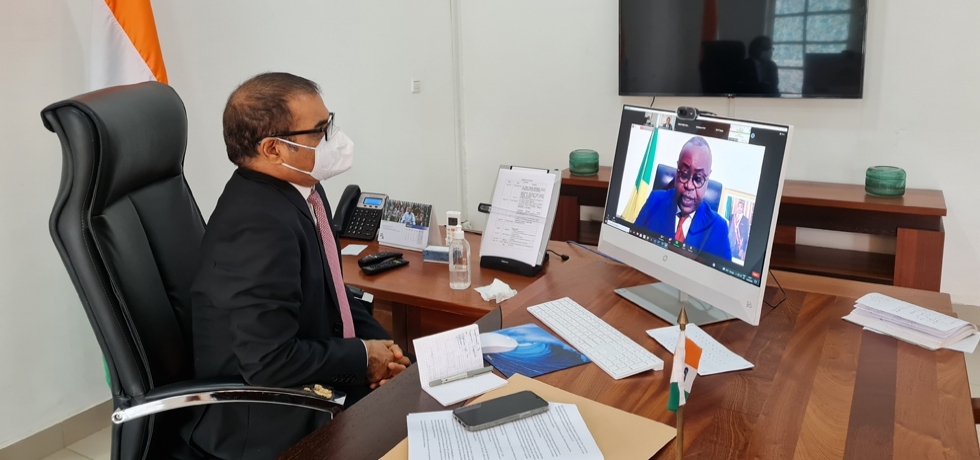 On 16th July Minister of Posts, Telecommunications and the Digital Economy of the Republic of Congo H.E. Mr.Leon Juste Ibombo participated in 16th CII -EXIM Bank Conclave held virtually from 13-16 July. The economic situation of today has revealed the importance of IT, the Minister said.  #IndiaAfricaConclave2021.